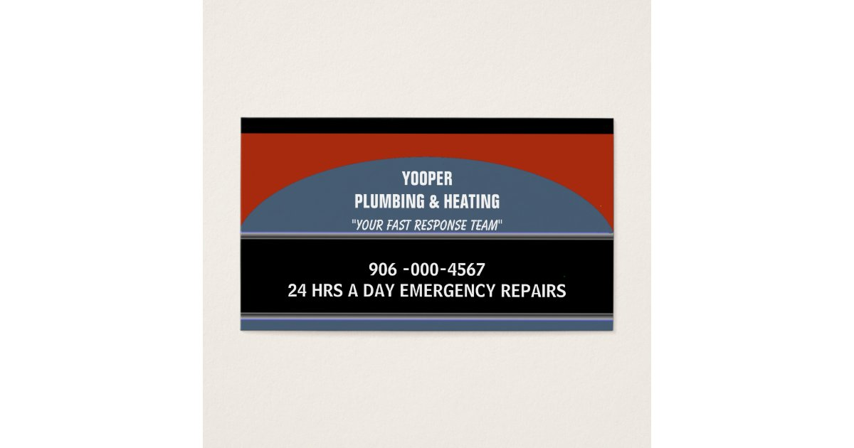 Plumbing and Heating Home Maintenance and Repair Business Card ...