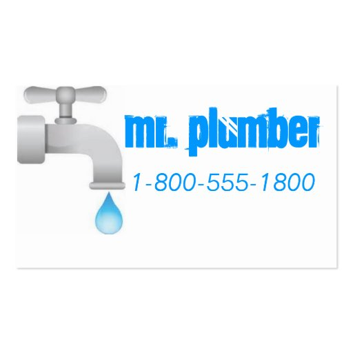 Plumbing Blue Business Cards