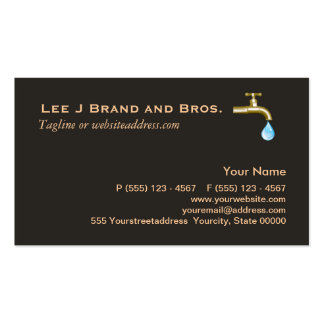 Plumbing Business Card