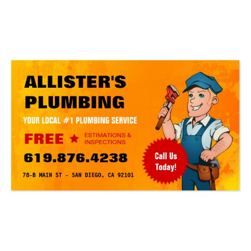 Plumbing Business Card Zazzle