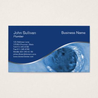 Plumbing Business Card Water Drain Hole