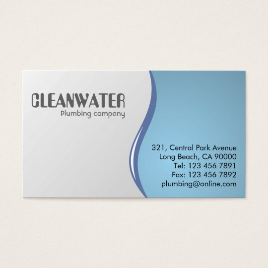 Plumbing business cards zazzle plumbing business cards colourmoves