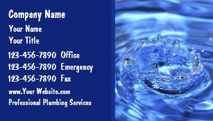 Plumbing business cards templates zazzle plumbing business cards colourmoves