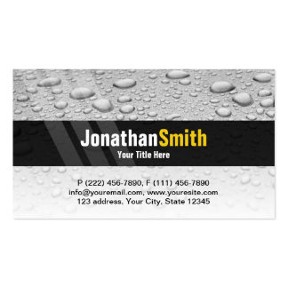 Plumbing business cards grey water drops