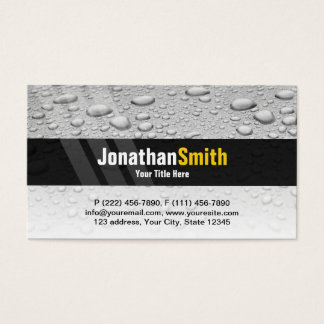 Plumbing business cards grey water drops
