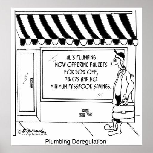 Plumbing Deregulation Poster