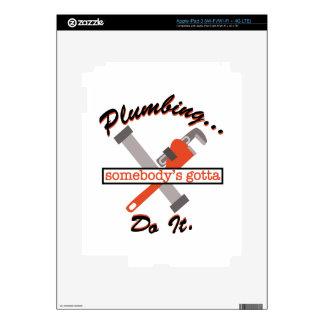 Plumbing Do It iPad 3 Skins