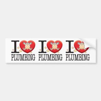 Plumbing Love Man Car Bumper Sticker