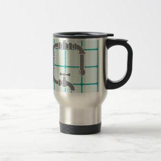 Plumbing pipe travel mug