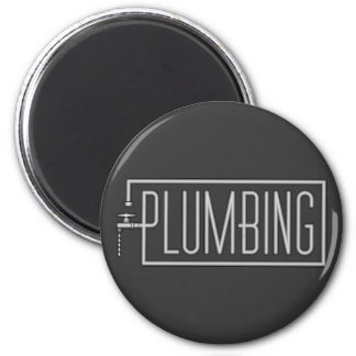 Plumbing - Pipes and Dripping Facet 2 Inch Round Magnet