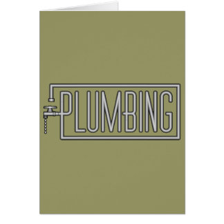 Plumbing - Pipes and Dripping Facet Card