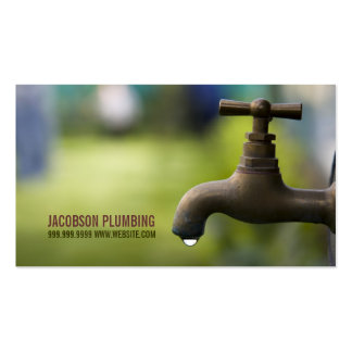 Plumbing Plumber Faucet Water Handyman Maintenance Double-Sided Standard Business Cards (Pack Of 100)
