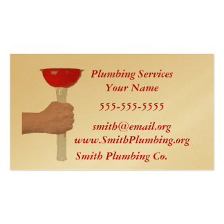 Plumbing Service Business Card
