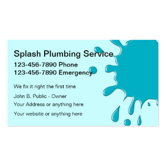 Plumbing Service Business Cards