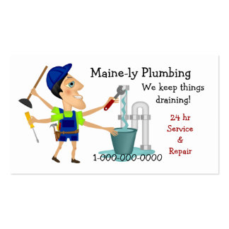 Plumbing Service Double-Sided Standard Business Cards (Pack Of 100)