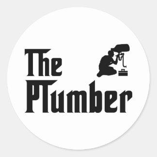 Plumbing Round Stickers