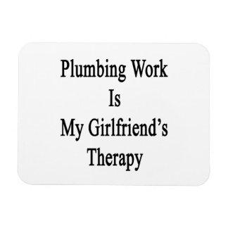 Plumbing Work Is My Girlfriend's Therapy Rectangular Photo Magnet