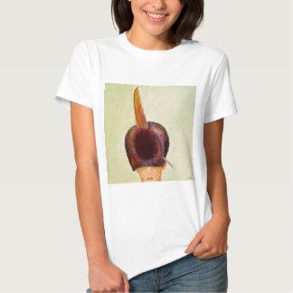 plume dans le chapeau t-shirt
