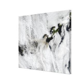 Plume from Okmok Volcano, Aleutian Islands 2 Canvas Print