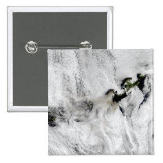 Plume from Okmok Volcano, Aleutian Islands 2 Pinback Button