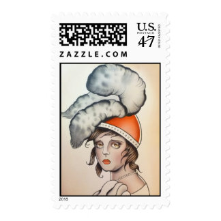 """Plume"" Original Watercolor Designer Stamps"