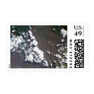 Plume rises from Nyiragongo Volcano in the DRC Postage Stamps