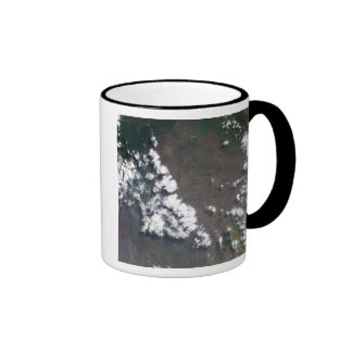 Plume rises from Nyiragongo Volcano in the DRC Ringer Coffee Mug