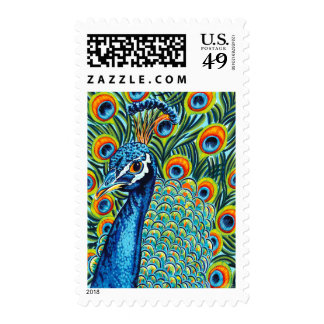 Plumed Peacock I Stamps