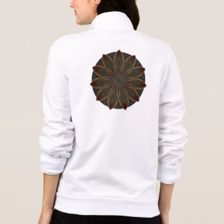Plumed Petals Kaleidoscope Mandala Jacket
