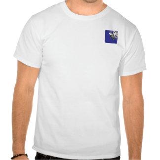 Plumeria azul y de plata camisetas
