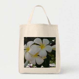 Plumeria Grocery Tote Bag
