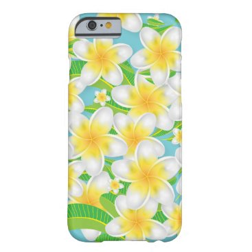 Beach Themed Plumeria Beach Flowers & Blue Sky Barely There iPhone 6 Case