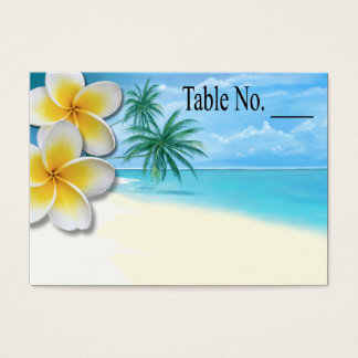 Plumeria Beach Tropical Hawaii placecard Business Card
