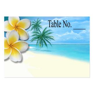 Plumeria Beach Tropical Hawaii placecard Large Business Card