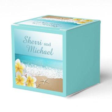 Beach Themed Plumeria Beach Tropical Island Wedding Favor Box