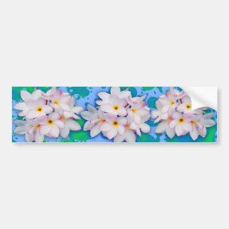 Plumeria Bouquet Exotic Summer Pattern Bumper Sticker