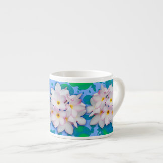 Plumeria Bouquet Exotic Summer Pattern Espresso Cup
