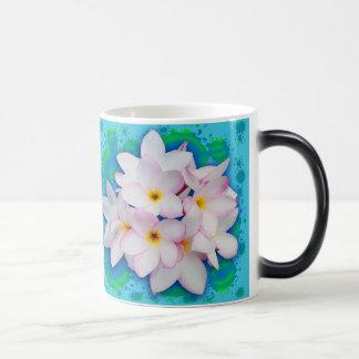 Plumeria Bouquet Exotic Summer Pattern Magic Mug