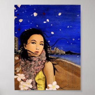 Plumeria Breeze on Waikiki Poster