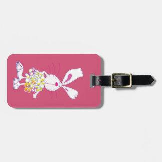 Plumeria Bunny Bag Tag