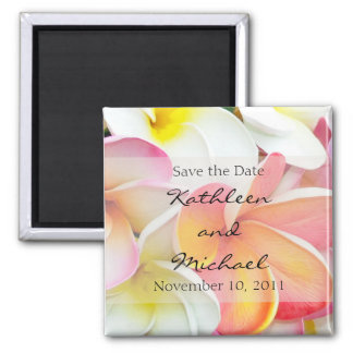 Plumeria Color Save the Date Magnet
