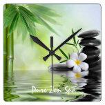 Plumeria de bambú personalizado del agua de los ZE Relojes