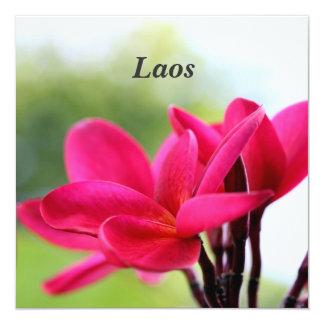 Plumeria de Laos Invitación 13,3 Cm X 13,3cm