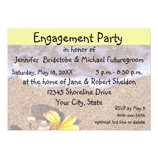 Plumeria del amarillo del fiesta de compromiso en  invitaciones personales