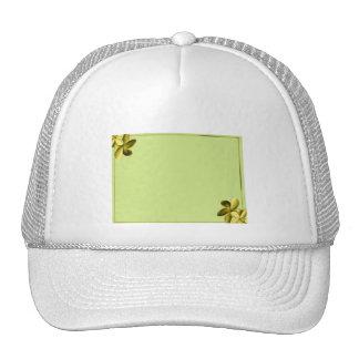 Plumeria del verde y del amarillo de mar gorra