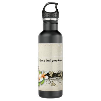 Plumeria del vintage/botella del beige del