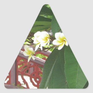Plumeria Exotique Triangle Sticker
