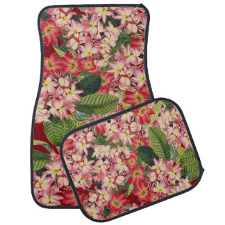 Plumeria Floral Flowers Tropical Floor Mats Car Floor Mat