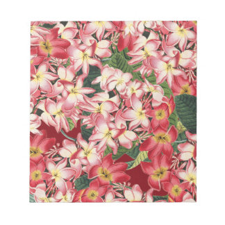 Plumeria Floral Tropical Flowers Notepad