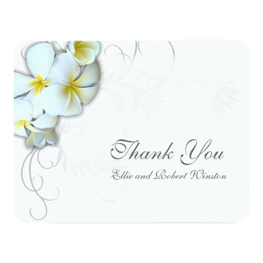 plumeria flourish personalized thank you note invitation zazzle com